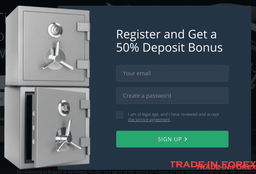 Bônus de depósito de 50%